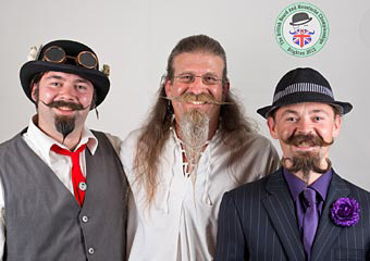 Winners of the Musketeer partial beard category - Photo: © Rick Harrison / FortyBelowZero.com 2012