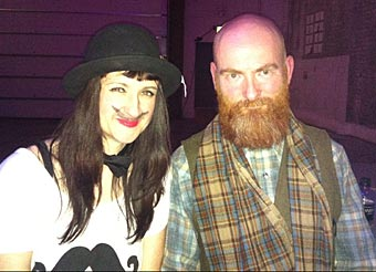 Organiser Jodie Schofield with Best Beard Winner Jim Loftus