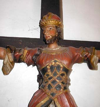 St. Wilgefortis (or Uncumber) was crucified for witchcraft