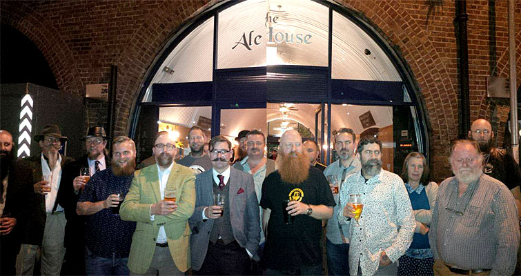 The Essex Beardsmen met at The Ale House, Chelmsford on October 17th - Composite photo from Stevie Sparshott