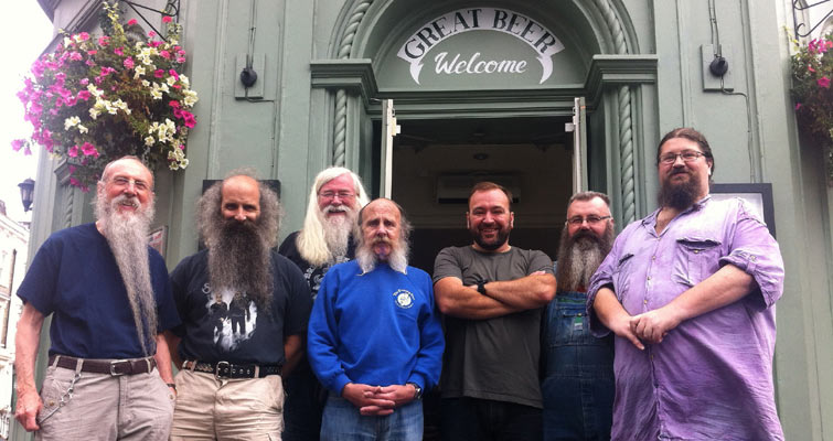 Capital Beards at the Finborough Arms on 10th August, with Landlord Jeff Bell.