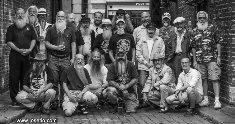One of the wonderful photos taken by Peruvian photographer José Tió at our Annual Midsummer Beardness Sunday Lunch at The George Inn, Southwark on June 22nd