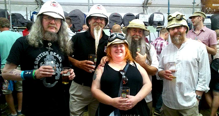 Five Get Pithed In The Park! The Essex Beardsmen and women at Chelmsford Summer Beer Festival in July