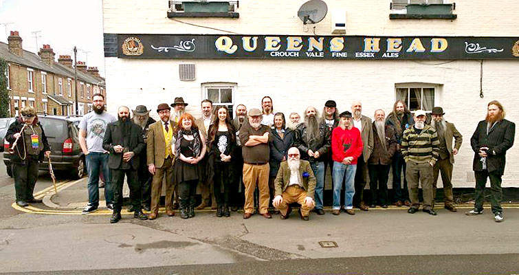 Most of the 6th Anniversary Gathering Chaps at The Queens Head, Chelmsford - Photo: Colin Garrett
