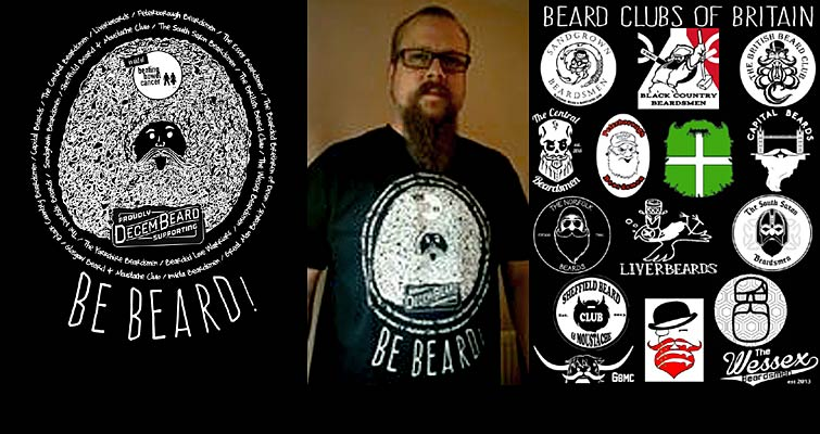 The Beard Clubs of Britain are supporting the Decembeard Bowel Cancer Awareness Campaign with this brilliant T-shirt design. Click/tap the picture to buy one!