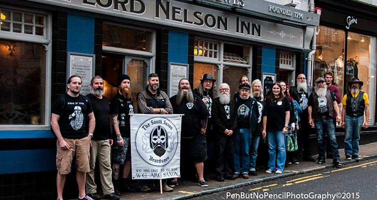The South Saxon Beardsmen at The Sussex Decembeard Launch Party on Nov 8 at The Lord Nelson Inn, Brighton. Photo by PenButNoPencil Photography