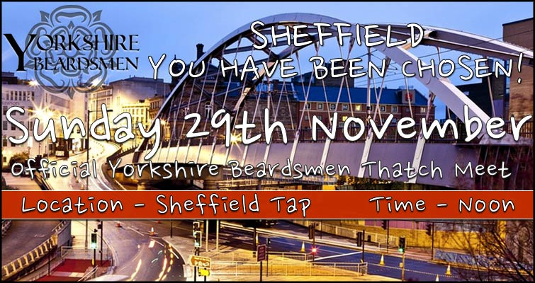 The Yorkshire Beardsmen's First Gathering is in Sheffield on November 29th at noon - Sheffield Tap, Platform 1B, Sheffield Station, S1 2BP