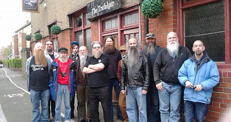 Capital Beards' Gathering on St George's Day at The Trafalgar Free House, Merton 23rd April.