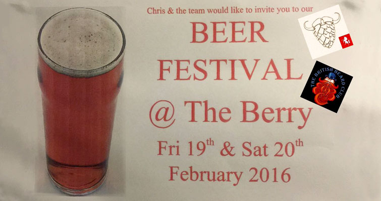 Invicta Beards next outing will be to this little event, always Fun - Beer Festival at The Berry, 23 Canada Rd, Walmer Feb 19 and 20