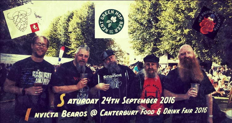 Invicta Beards will be at Canterbury food and drink festival, Dane John Gardens, Watling St, CT1 2, Kent on September 24th from 12 to 4pm