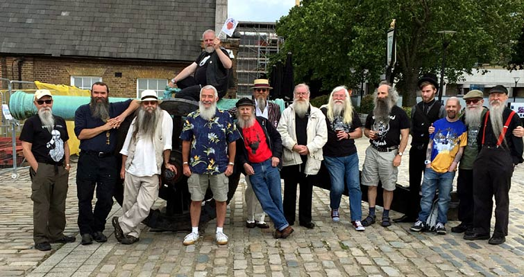 Summer Beardness - Our Annual Sunday Lunch and Club Members Gathering at The Dial Arch, Woolwich, London on June 26