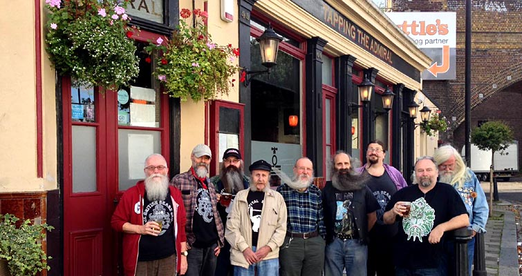 Capital Beards will be visiting Tapping the Admiral from 12.00 on Sunday 9th October at 77 Castle Road, Camden. Afterwards visiting a couple of other local hostelries - all welcome!