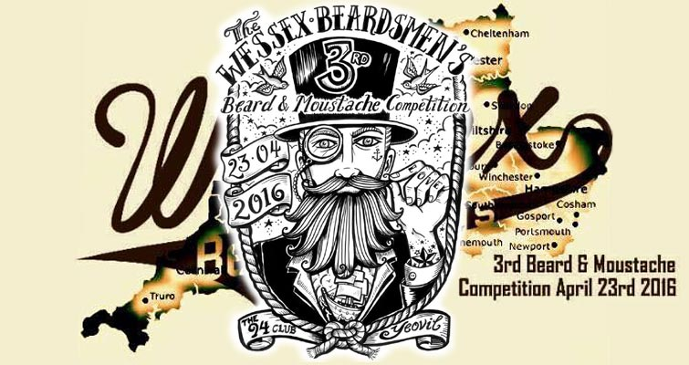 The Wessex Beardsmen's Third Beard and Moustache Competition is on April 23rd 2016 at The 94 Club, Yeovil Somerset from 2pm
