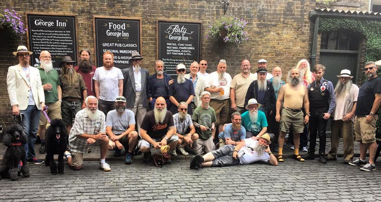 Our 9th Annual Summer Beardness Gathering at The George Inn, London on June 18 2017. More than 30 Members attended