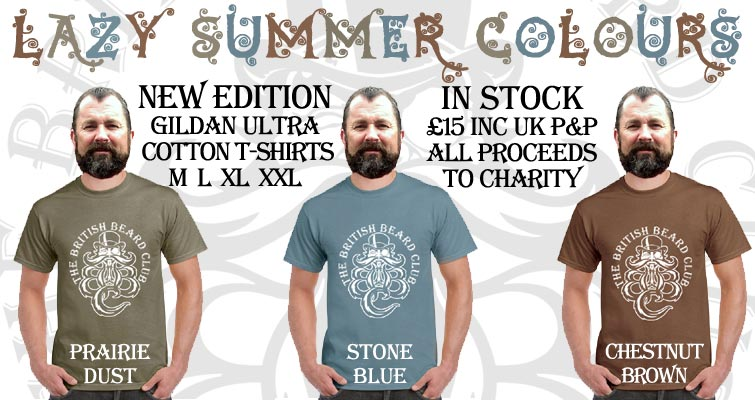 Lazy Summer Colours - In Stock! New Edition Gildan Ultra T-Shirts in Prairie Dust, Stone Blue and Chestnut - Sizes M L XL XXL - £15 inc UK P&P - Proceeds to Charity