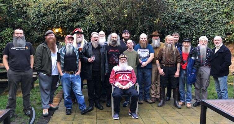 Capital Beards and South Saxon Beardsmen at the 2018 December meet at The Builders Arms, 65 Leslie Park Road, Croydon