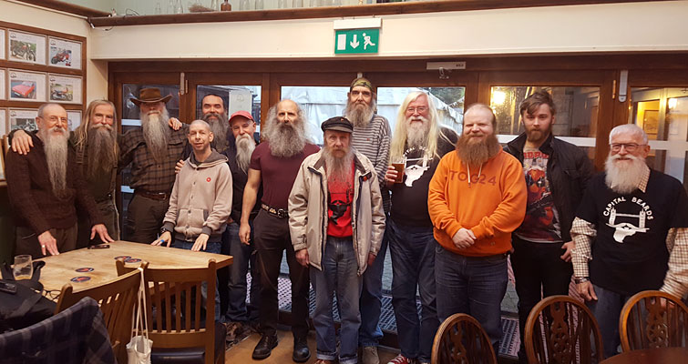 It was back to The Hope at West Street, Carshalton on Saturday 16th for the November meeting of Capital Beards. One of our favourite pubs where we enjoyed a social gathering, beer and lunch.