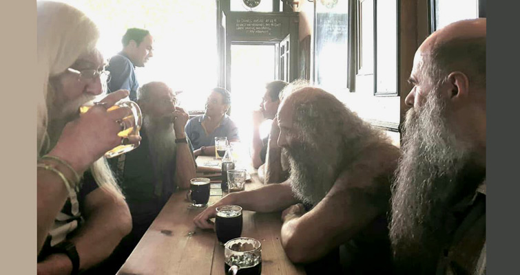 The Gentlemen of Capital Beards gathered at The Oxford Tavern, Kentish Town on 13th July.