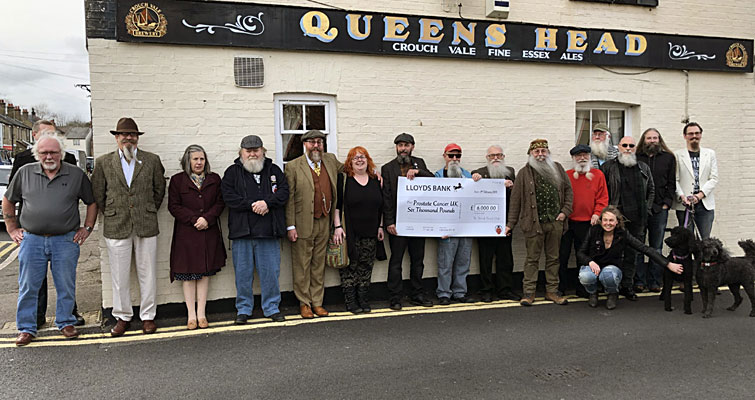 The Essex Beardsmen - 1st Thatch of The British Beard Club, hosted our 10th Anniversary Gathering at The Queens Head, Chelmsford. Members Subscriptions and all proceeds from Club merchandise sales in 2018 raised a record £6000 for Prostate Cancer UK