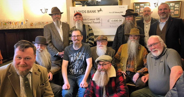 The Essex Beardsmen - 1st Thatch of The British Beard Club, hosted our 11th Anniversary Gathering at The Queens Head, Chelmsford. Members Subscriptions and all proceeds from Club merchandise sales in 2019 raised £4000 for Prostate Cancer UK and £487 from Bowel Cancer UK