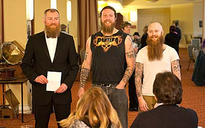 The 'Full Beard Natural' Contestants face The Judges - Photo © Tricky