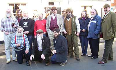 The Essex Beardsmen host 21 hardy souls at The Queens Head