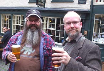 Phil and Jason raise a glass to Midsummer - Photo: The Coppins