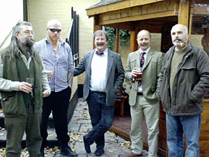 Charlie, Henry, Andy, Steve and prospective new TBBC member with Pipe AND Beard