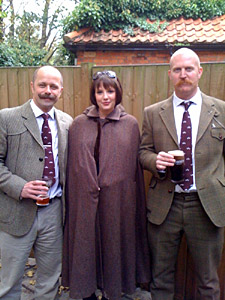 Steve, Keri and Dave - Tweed is body armour for the Soul...