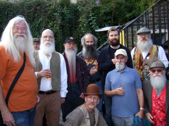 Some of the Members attending Carshalton Straw Jack, in Surrey on September 7